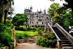 Punti di riferimento del Portogallo Palazzo Quinta da Regaleira in Sintra Immagine Stock Libera da Diritti