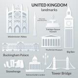 Punti di riferimento del Regno Unito Immagini Stock