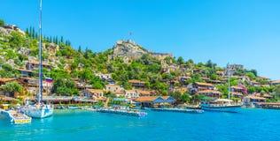 Punti di riferimento della baia di Kekova, Turchia Fotografia Stock