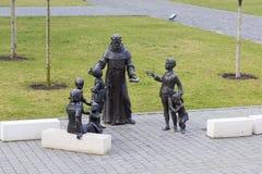 Punti di riferimento di Alba Iulia - statua del sacerdote Fotografia Stock Libera da Diritti