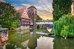Punti di riferimento di Norimberga Germania Immagini Stock Libere da Diritti