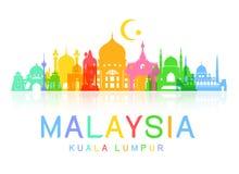 Punti di riferimento di viaggio della Malesia Immagine Stock Libera da Diritti
