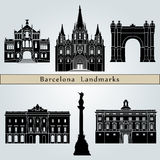 Punti di riferimento e monumenti di Barcellona Immagini Stock Libere da Diritti