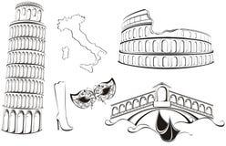 Punti di riferimento famosi dell'Italia Immagine Stock Libera da Diritti