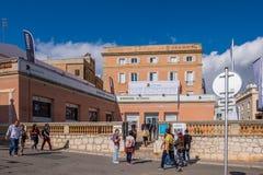 Punti di riferimento di Sitges a Barcellona, Spagna Fotografia Stock