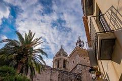 Punti di riferimento di Sitges a Barcellona, Spagna Fotografia Stock Libera da Diritti