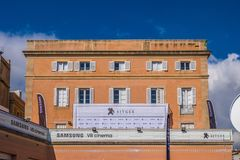 Punti di riferimento di Sitges a Barcellona, Spagna Fotografie Stock