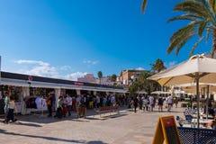 Punti di riferimento di Sitges a Barcellona, Spagna Fotografie Stock Libere da Diritti