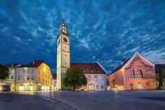 Punti di riferimento storici di Ravensburg nella sera, Germania Fotografia Stock Libera da Diritti