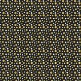 Punti di scintillio dell'oro su fondo nero Fotografie Stock Libere da Diritti
