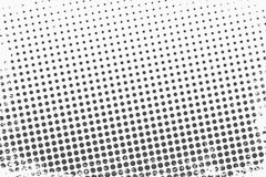 Punti di semitono Il fondo monocromatico di struttura di vettore per precomprime, DTP, i fumetti, manifesto Modello di stile di P illustrazione vettoriale