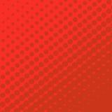 Punti di semitono su fondo rosso Fotografia Stock