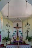Punti di vista del Curacao dell'altare della chiesa di Westpunt Fotografia Stock