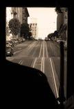 Punti di vista del Gripman dalla cabina di funivia Fotografie Stock