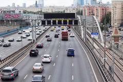 Punti di vista di Mosca di terzo Ring Road Fotografia Stock Libera da Diritti