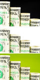 Punti diminuenti del dollaro americano Fotografie Stock