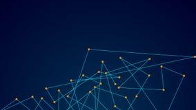 Punti e linee di collegamento astratti Fondo di scienza di tecnologia del collegamento royalty illustrazione gratis
