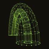 Punti e linee di collegamento astratti grafico Immagine Stock Libera da Diritti