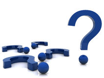 punti interrogativi 3d Fotografia Stock Libera da Diritti