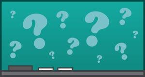 Punti interrogativi della lavagna Immagini Stock Libere da Diritti
