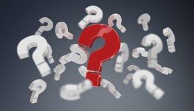 punti interrogativi della rappresentazione 3D Fotografia Stock