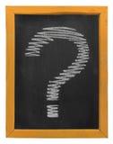 Punti interrogativi dello scarabocchio da gesso Fotografie Stock