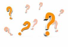 Punti interrogativi multipli Immagini Stock Libere da Diritti