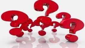 Punti interrogativi nel colore rosso su bianco royalty illustrazione gratis