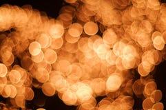 Punti luminosi arancioni Fotografia Stock