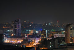 punti luminosi di notte di paesaggio urbano Fotografia Stock Libera da Diritti