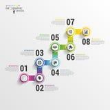 Punti moderni della scala di affari a successo Modello di progettazione di Infographic Illustrazione di vettore Immagine Stock Libera da Diritti
