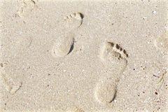 Punti nella sabbia Fotografie Stock Libere da Diritti