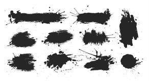 Punti neri dell'inchiostro messi illustrazione di stock