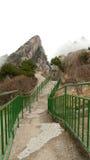 Punti occidentali di huangshan del supporto fotografia stock