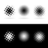 Punti rotondi in bianco e nero Fotografie Stock