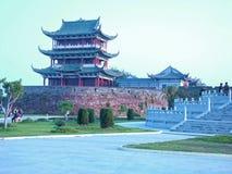 Punti scenici terrazzo-famosi di Bajing in Jiangxi Immagini Stock