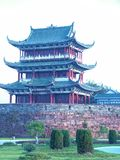 Punti scenici terrazzo-famosi di Bajing in Jiangxi Fotografia Stock