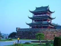 Punti scenici terrazzo-famosi di Bajing in Jiangxi Immagine Stock