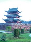 Punti scenici terrazzo-famosi di Bajing in Jiangxi Fotografie Stock