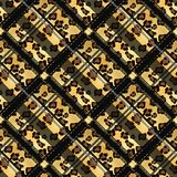 Punti senza cuciture del leopardo del modello di lerciume scozzese del tartan tartan con stile del leopardo ENV 10 royalty illustrazione gratis