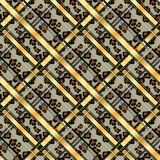 Punti senza cuciture del leopardo del modello di lerciume scozzese del tartan tartan con stile del leopardo ENV 10 illustrazione vettoriale