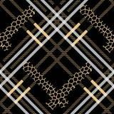 Punti senza cuciture del leopardo del modello di lerciume scozzese del tartan tartan con stile del leopardo EPS10 illustrazione di stock