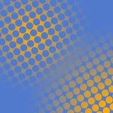Punti su giallo e sull'azzurro Fotografie Stock Libere da Diritti