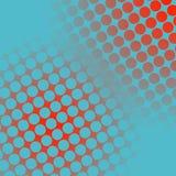 Punti su rosso e su blu illustrazione vettoriale