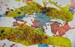 Punti verdi della cera dell'oro giallo dell'acquerello, progettazione creativa Immagine Stock Libera da Diritti