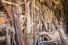 Puntina arrugginita del cavallo della lama per sega stagionata Fotografia Stock