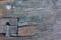 Puntina e una miscela di due bordi di legno, fine-ap fotografie stock libere da diritti