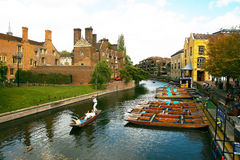 Punting along the River Cam Stock Photography