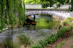 Punting on the Avon. River in Christchurch, New Zealand Stock Photo
