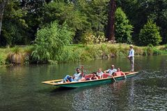 Punting on The Avon River, Christchurch New Zealand Royalty Free Stock Photo